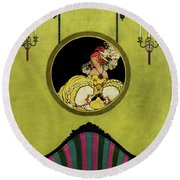 House And Garden Furniture Number Cover Round Beach Towel