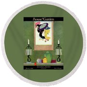 House And Garden Furniture Number Round Beach Towel