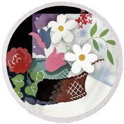 House And Garden Summer Furnishings Number Cover Round Beach Towel