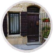 House Arles France Dsc01809  Round Beach Towel