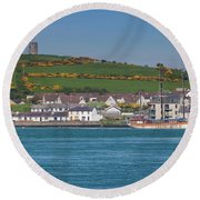 House In A Town, Portaferry Round Beach Towel