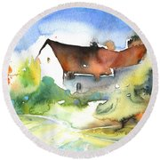 House In Germany Round Beach Towel