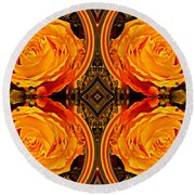 House Of Roses Round Beach Towel