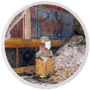 House Of The Silver Wedding, Damaged Round Beach Towel