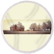 House On 4 Mile Road P3 Round Beach Towel