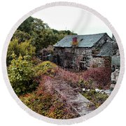 House On A River Round Beach Towel