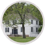 House On The Palace Green Round Beach Towel