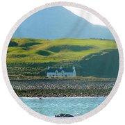 House On The Shore Round Beach Towel