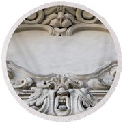 House Sign - Relief Round Beach Towel