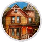 House - Victorian - The Wayward Inn Round Beach Towel
