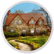House - Westfield Nj - The Estates  Round Beach Towel