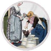 Housewife, 1811 Round Beach Towel