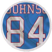 Houston Oilers Billy Whiteshoes Johnson Round Beach Towel