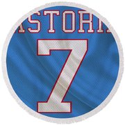 Houston Oilers Dan Pastorini Round Beach Towel