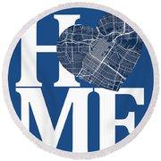 Houston Street Map Home Heart - Houston Texas Road Map In A Hear Round Beach Towel
