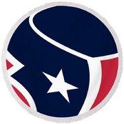 Houston Texans Round Beach Towel by Tony Rubino