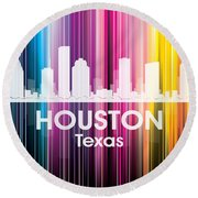 Houston Tx 2 Round Beach Towel