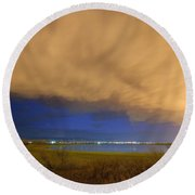 Hovering Stormy Weather Round Beach Towel