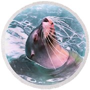 How Cool Round Beach Towel