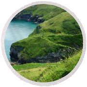 Rolling Hills Of Green Round Beach Towel