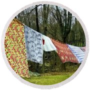 How To Dry An American Quilt Round Beach Towel