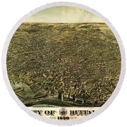 Howards Map Of Buffalo New York 1880 Round Beach Towel
