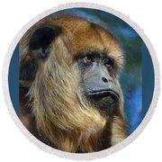 Howler Monkey Round Beach Towel
