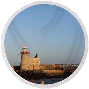 Howth Lighthouse  Round Beach Towel