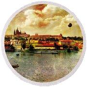 Hradczany - Prague Round Beach Towel