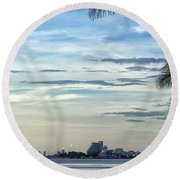 Hua Hin Coastline 02 Round Beach Towel
