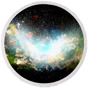 Hubble Birth Of A Galaxy Round Beach Towel