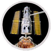 Hubble Space Telescope Redeployment  Round Beach Towel