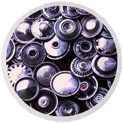 Hubcaps Round Beach Towel