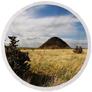 Huerfano Butte Round Beach Towel