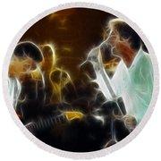 Huey Lewis-chris-gd15a-fractal-1 Round Beach Towel