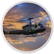 Huey - Vietnam Workhorse Round Beach Towel