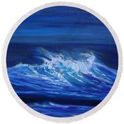 Wave V Jenny Lee Discount Round Beach Towel
