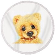 Huggable Teddy Bear Round Beach Towel