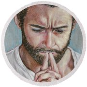 Hugh Jackman Round Beach Towel