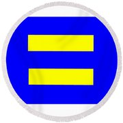 Human Rights Equality Flag Round Beach Towel