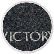 Human Rights Victory Round Beach Towel
