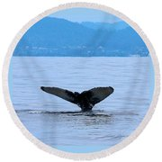Humpback In Monterey Round Beach Towel