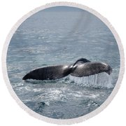 Humpback Whale Tail Round Beach Towel