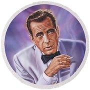 Humphrey Bogart Round Beach Towel