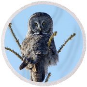 Hundred Mile Stare Round Beach Towel