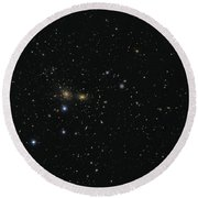 Hundreds Of Galaxies In The Coma Round Beach Towel