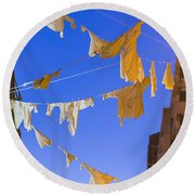 Hung Out To Dry 2 Round Beach Towel