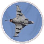 Hungarian Air Force Saab Jas-39 Gripen Round Beach Towel
