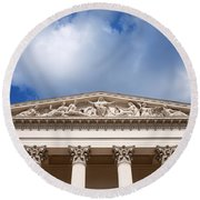 Hungarian National Museum Architectural Details Round Beach Towel