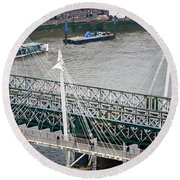 Hungerford Bridge Round Beach Towel